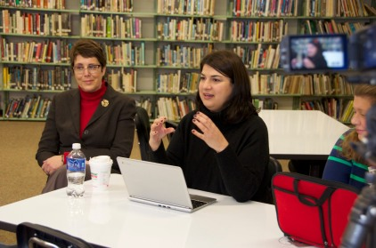 Jevina shares her student work