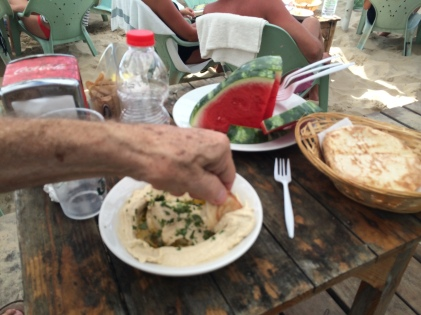 Humus and Pita- we're home.