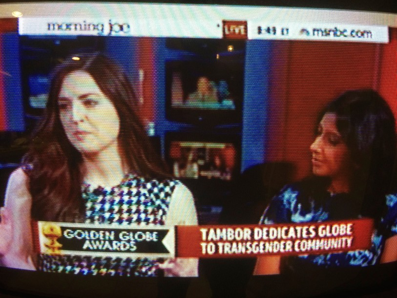 Leigh Blickley breaking down the Globes on Morning Joe,