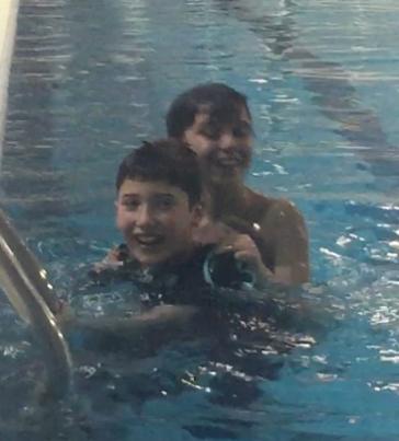 Mihael swims